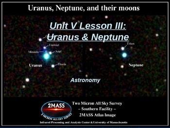 """Astronomy Unit V Lesson III PowerPoint """"Uranus & Neptune"""""""