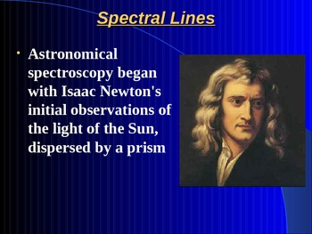 "Astronomy Unit VI Lesson II PowerPoint ""Spectroscopy"""
