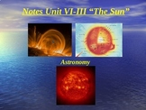 "Astronomy Unit VI Lesson III PowerPoint ""The Sun"""