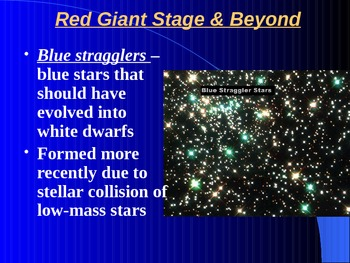 """Astronomy Unit VIII Lesson I PowerPoint """"Life of a Star"""""""