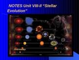 "Astronomy Unit VIII Lesson II PowerPoint ""Stellar Evolution"""