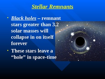 """Astronomy Unit VIII Lesson III PowerPoint """"Stellar Explosions & Remnants"""""""