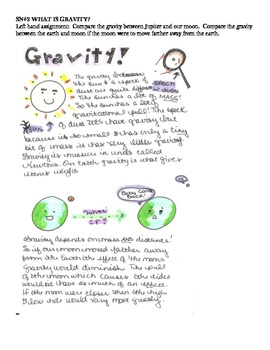 Astronomy Unit for Interactive Notebooking
