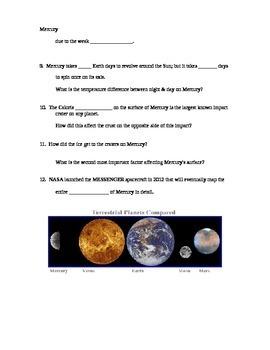 "Astronomy Video ""Universe: Venus & Mercury - The Inner Planets"""