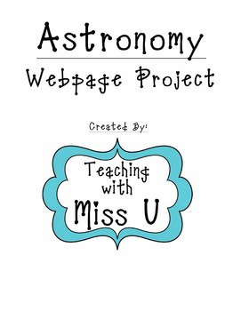 Astronomy Webpage Project