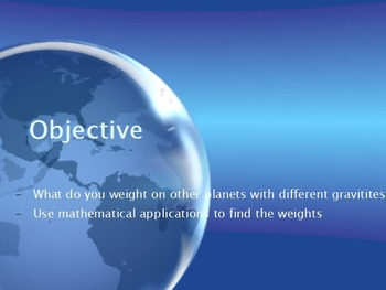 Astronomy - Weight on other Planets (math) (SMART BOARD)