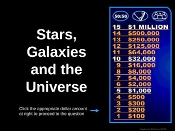 Astronomy - Who wants to be a millionaire Review (POWERPOINT)
