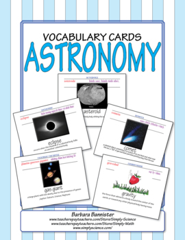 Astronomy Word Cards