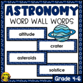 Astronomy Word Wall Words- Editable