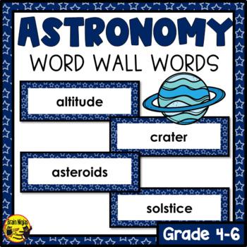 Astronomy Word Wall Words- Editable