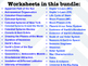 Astronomy Worksheets *EDITABLE BUNDLE*