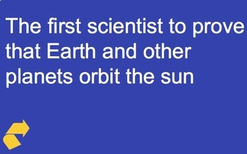 Astronomy and Space Science Jeopardy Game