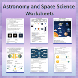 Astronomy and Space Science Unit Worksheets Bundle