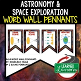 Astronomy and Space Exploration Word Wall Pennants (Earth