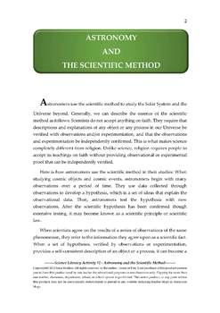NGSS Earth & Space Science Astronomy Lesson Plan #2 Astronomy, Scientific Method