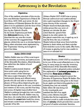Scientific Revolution Worksheets & Teaching Resources | TpT