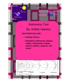 Astronomy test (goes with my astronomy box review)
