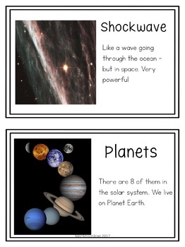 Astronomy/Creation Words for Montessori First Great Story
