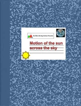 Astronomy/Earth Science Lab - The Daily Motion of the Sun across the sky - 3D