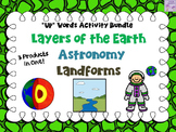 "Astronomy/Layers of the Earth/Landforms & Bodies of Water ""Words Up"" Bundle"