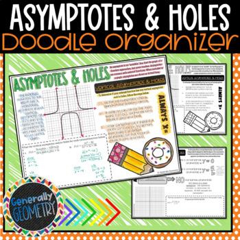 Asymptotes & Holes Doodle Organizer; Vertical/Horizontal/Slant, Algebra 2