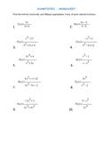 Asymptotes- worksheet-with key