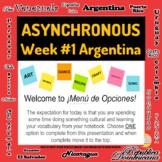 Asynchronous Choice Board #1 - High-Interest Argentina Cul