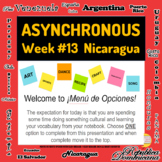 Asynchronous Spanish Choice Board #13 - High-Interest Nica