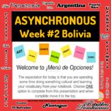 Asynchronous Choice Board #2 - High-Interest Bolivian Cult