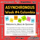 Asynchronous Choice Board #4 - High-Interest Colombia Cult