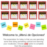 Asynchronous Spanish Class Choice Boards - High Interest Culture Lessons 11-20