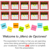 Asynchronous Spanish Class Choice Boards with High Interest Culture Lessons