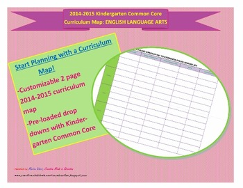 At A Glance Common Core ELA Curriculum Map: Kindergarten