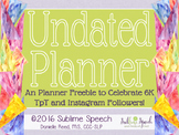 """Undated Weekly/Monthly Planner """"Thank You"""" Freebie"""