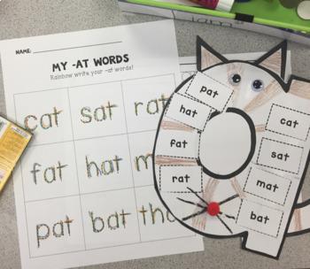 """At Cat"" At Family Words Craftivity"