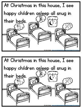 At Christmas In This House...  - Easy Reader With Fill In Student Writing Pages