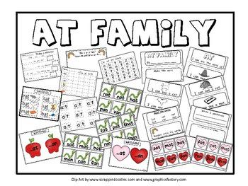 At Family Word Family Activities Kindergarten