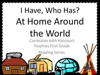 """At Home Around the World """"I HAVE, WHO HAS?"""" for Harcourt Trophies"""
