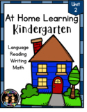 At Home Distance Learning for Kindergarten (Print & Go!) M