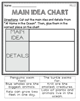 At Home In the Ocean: First Grade - Journeys Supplemental Resources #11