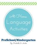 At Home Language Activities PreK/Kindergarten