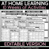At Home Learning Packet 10 Weeks | Distance Learning Kindergarten