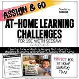 At Home Learning Challenges   For Use with Seesaw