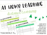 At Home Learning: Daily Templates