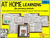 At Home Learning ELA Packet Week 1 (Ideal for Primary Grad