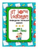 At Home Learning: Kindergarten Homework Bags {Set 1: Septe