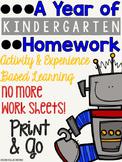 A Year of Kindergarten Homework