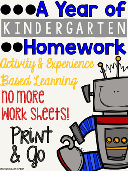 A Year of Kindergarten Homework