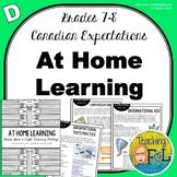 At Home Learning Lessons - Gr 7/8 - Week D