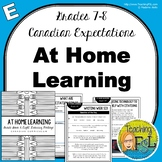 At Home Learning Lessons - Gr 7/8 - Week E